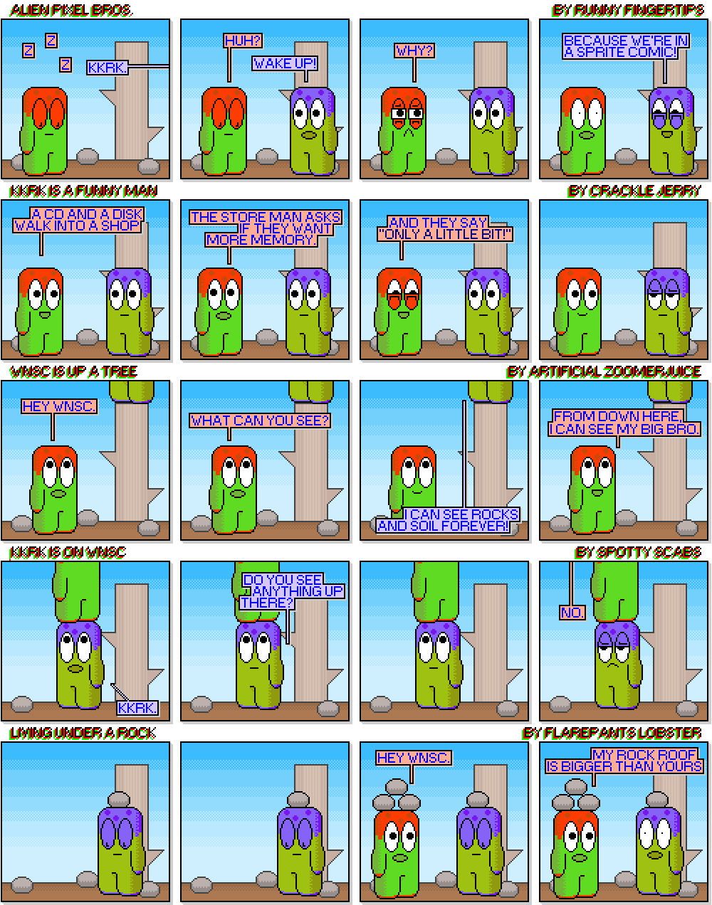 If Baby Aliens were a sprite comic.